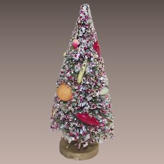 Bottle Brush Tree with Glitter and Fruit