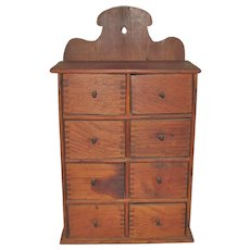 Country Farm House Kitchen 8 Drawer Spice Cabinet from Kansas