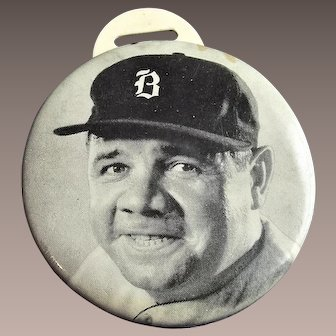 Babe Ruth Watch Fob in Boston Hat - Quaker Oats 1934 - 1935