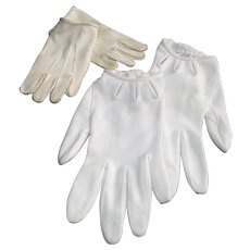 Vintage Young Childrens Dress Gloves  Two Pair