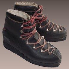 Ladies Ski Boots - Vintage 1950's – 60's - French