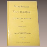 1950 Maine State Register and Legislative Manual