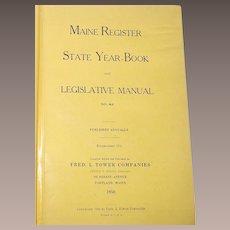 1950 Maine State Register and Legislative Manual