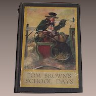 1911 TOM BROWN'S School Days by Thomas Hughes - Louis Rhead Color Illustrations