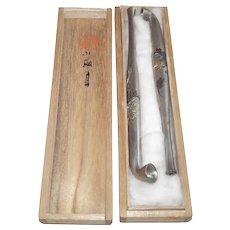 Japanese Opium Pipes - Boxed Set  Circa 1950