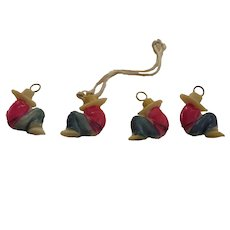 Cracker Jacks Toys Sleeping Mexican 5 Pieces