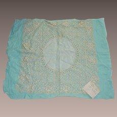 Maltese Silk Lace Wedding Handkerchief  Antique