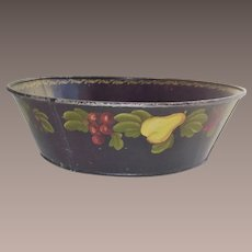 Large Tole Ware Bowl with Fruit