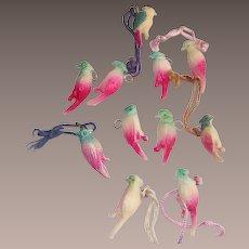 Cracker Jacks Toys Eleven Piece Colorful Parrots