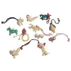 Cracker Jacks Toys Eleven Piece Mixed Lot all Animals