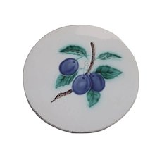 Tea Tile with Purple Plums