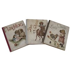 Three Ernest Nister Children's Illustrated Miniature Books  1894