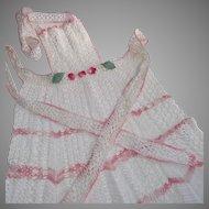 Vintage Crocheted Hostess Apron