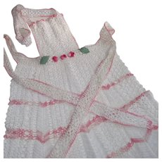Vintage Crocheted Hostess Apron