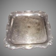 Silver Plate Wilcox International Rochelle Pattern Square Tray