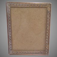 Small Brass Tabletop Picture Frame