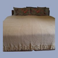 Full – Queen Crochet Bed Spread  Hand Made Cotton