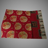 Vintage Christmas Wrapping Paper Three Sheets C 1960s