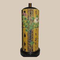 Minton Bamboo Pattern Majolica Table Lamp