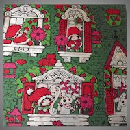 Vintage Strawberry Shortcake Christmas Wrapping Paper