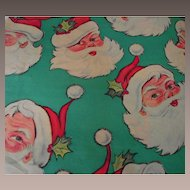 Vintage Santa Christmas Wrapping Paper