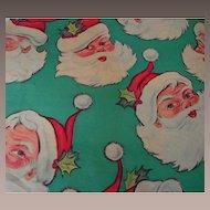 Vintage Santa Christmas Wrapping Paper