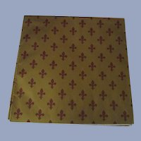 Scrap Booking Special  Fleur-de-Lis  and Polka Dot Wrapping Paper Vintage