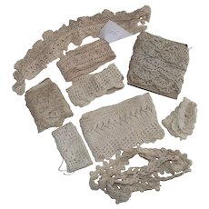 Vintage Crochet Lace Trims Most are Insertion Sizes