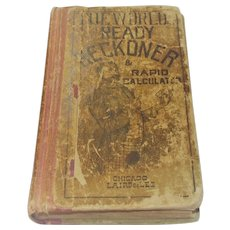 "Circa 1880 Pocket Book ""The World Ready Reckoner and Rapid Calculator"""