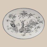 Aesthetic Movement Turkey Platter Lily & Vase Pattern
