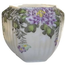 Melon Shaped Hand Painted Rose Bowl