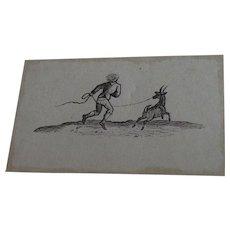 Thomas Bewick Original Wood Engraving C1780