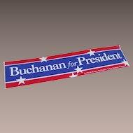 1992 Pat Buchanan For President Bumper Sticker