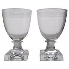 Pair Cut Lead Crystal Oyster Cocktail Goblets