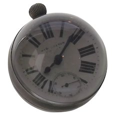 Rock Crystal Paper Weight Skeleton Desk Clock by George Nelson  C. Mid Century - Pools of Light