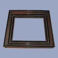 Victorian Deep Walnut Picture Frame