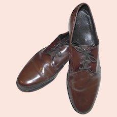 Men's Lace Up Oxford Shoes STUART MCGUIRE Brown Leather  Size 11C