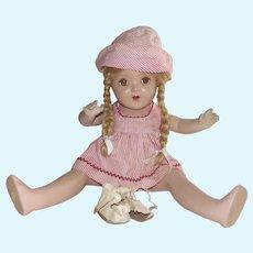 "Vintage Composition Horsman Mama Doll Tin Eyes 19"""