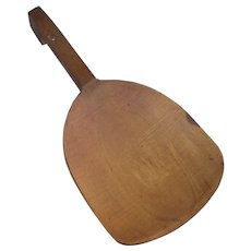 Pine Wooden Butter Paddle Circa 20th Century