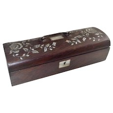 Victorian Child's Sewing Box with Mother of Pearl