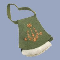Hand Made Vintage Needle Case with Embroidered Felt