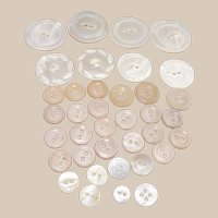 Carved Mother Of Pearl Buttons  37 Miscellaneous Designs and Sizes