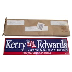 Official Kerry - Edwards 2004 Presidential Bumper Stickers Un-Opened Set of 50