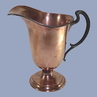 Copper Water Pitcher with Hand Forged Pewter Handle