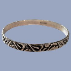 Danecraft Sterling Silver Calla Lily Bangle Bracelet