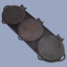 Cast Iron Flop Griddle Patent Dated 1881