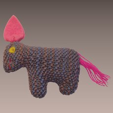 Vintage Hand Made Wool Donkey- Pony Stuffed Toy
