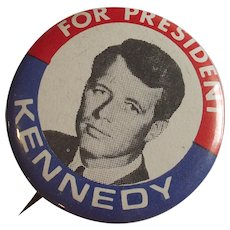 1968 Robert Kennedy For President Pinback Button
