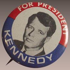 1968 Robert Kennedy For President Pinback Button
