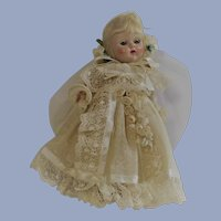 1954 Vogue Ginny Bride Doll in Original Box with Painted Lashes  Walker Doll